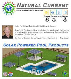 0.5HP SunRay Solar Powered Pool Pump DC Motor Inground Variable 90v Spa Pond