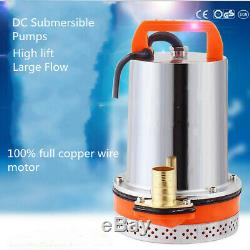 12V Stainless steel Submersible Water Pump Clean Clear Dirty Pool Pond Flood
