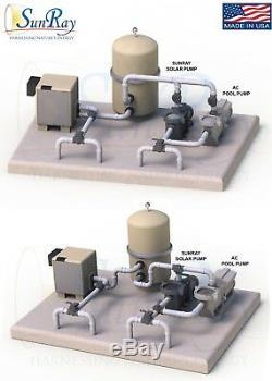 1HP SunRay Solar Swimming Pool Pump DC Motor Inground Variable 90v USA Spa Pond
