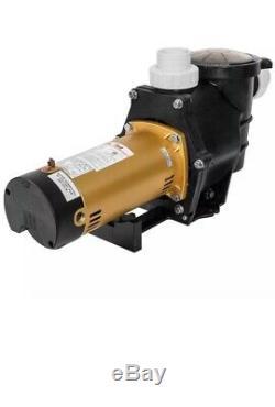2HP Inground Swimming Spa Pool Pump 5850 GPH Dual Speed Motor 2 Thread NPT