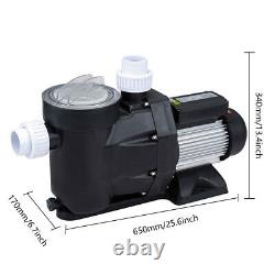 2.5HP Swimming Pool Pump Self-Priming IP55 Spa Above / In Ground 1850w Motor