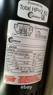 A. O. Smith Century SQS1202R Pool Pump Motor 2 HP 230V 2-Speed