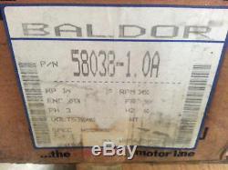 Baldor AC Pool Pump Motor PN# 58038-1.0A. 75 HP 3450 RPM 56Y Frame 230/460 Volt