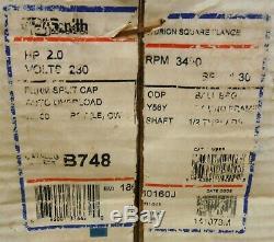 CENTURY AO Smith B2748 B748 Pool Pump Motor 2 HP 230 Volt 56Y Frame 220