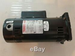Century 1-1/2 HP Square Flange Pool Pump Motor, Capacitor-Start/Run, 3450