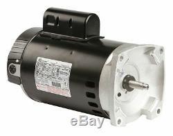 Century 2 HP Square Flange Pool Pump Motor, Permanent Split Capacitor, 3450
