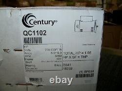 Century Motor 208-230/115V 3450 RPM 48Y Frame pool pump 1HP