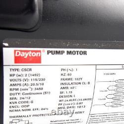 Dayton 5PXC6 Cast Iron Pool Pump 2HP, 115/230V, 3450 RPM