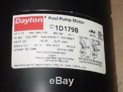 Dayton R611036b 1 /. 12 HP Pool Pump Motor 47062 Single Shaft