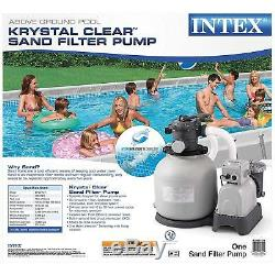 Durable 10-120V Filter Pump for Above Ground Pools with 2,800 GPH Powerful Motor