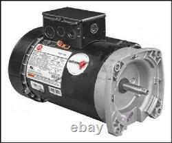 ETE841 1 Hp Square Flange Pool Pump Motor 1 Year Warranty TEFC