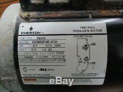 Emerson TS605 Pool/Spa Motor with Pump K63MWENE-4731 3HP 3600RPM FR 56Y 230V Used
