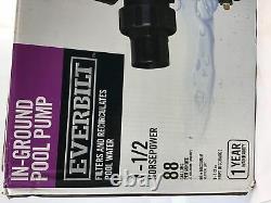Everbilt 1-1/2 Horsepower In-Ground Pool Pump 88 GPM (1004 139 608)