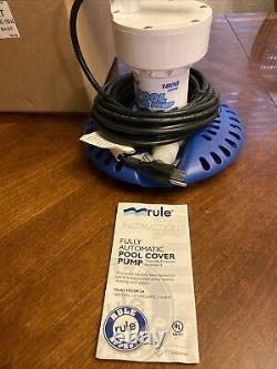 H53SP-24M Rule 1800GPH 110V Swimming Pool Cover Sump Pump 24 Cord New In Box