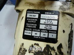 National Chemical 100/007 Pool Pump Motor 115VAC! WOW