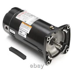 New Century 1 HP Pool & Spa Motor 115/230 Vac 3450 RPM 48y Frame Usq1102