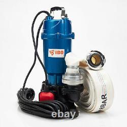 Schmutzwasserpumpe Tauchpumpe mit Schwimmer IBO750With0,75KW +20m Schlauch