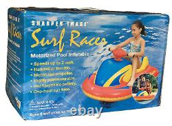 Sharper Image Motorized Pool Inflatable Surf Racer with Pump Kids 5+ 150 Lbs DK020