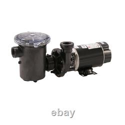 Single Speed Above Ground Pool Pump Hi-Flo 1 Hp Quiet Motor Threaded Female