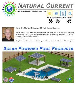 SunRay In Variable with 4 Panels 120v Pond Solar Swimming Pool Pump 1HP DC Motor