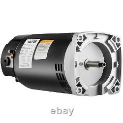 VEVOR 1.5 HP 115/230V Pool Pump Motor 56Y Swimming Pool Motor Replacement Kit