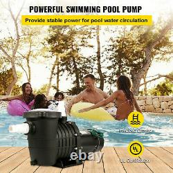 VEVOR 2HP Swimming Pool Pump Motor withStrainer Generic In/Above Ground 6657GPH