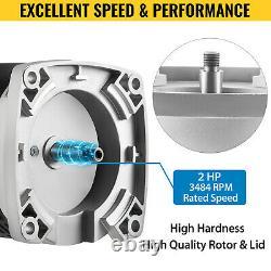 VEVOR 2 HP 115/230V Pool Pump Motor 56Y Swimming Pool Motor Replacement Kit