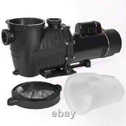 XtremepowerUS 75039-2 2Hp Dual Speed 230V Swimming Spa Ground Pool Pump, Black